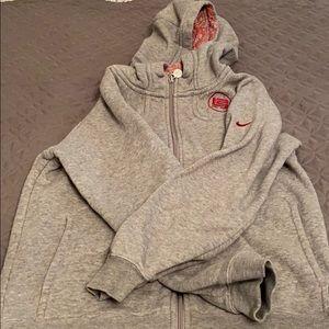 Nike youth zip sweatshirt size M